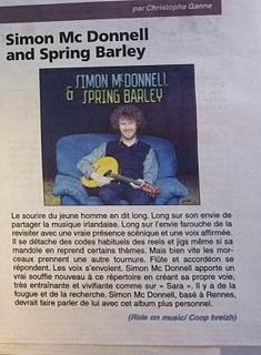 Simon McDonnell & Spring Barley in Le Trégor