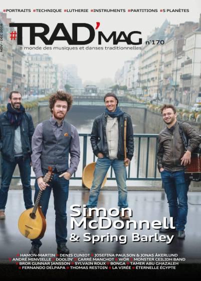 Simon McDonnell & Spring Barley couverture de Trad' Mag